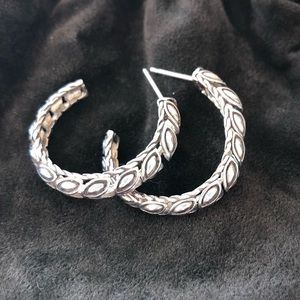 Authentic John Hardy Sterling Padi Hoop Earrings